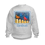 Cardinals on the Fence Kids Sweatshirt