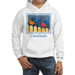 Cardinals on the Fence Hooded Sweatshirt