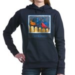 Cardinals on the Fence Women's Hooded Sweatshirt