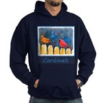 Cardinals on the Fence Hoodie (dark)