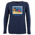 Cardinals on the Fence Plus Size Long Sleeve Tee