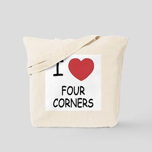 I heart four corners Tote Bag