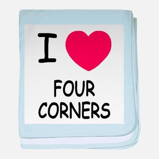 I heart four corners baby blanket