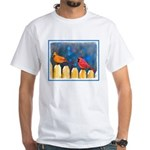Cardinals on the Fence White T-Shirt