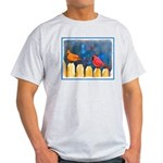 Cardinals on the Fence Light T-Shirt