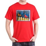 Cardinals on the Fence Dark T-Shirt