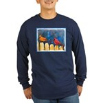 Cardinals on the Fence Long Sleeve Dark T-Shirt