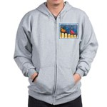 Cardinals on the Fence Zip Hoodie
