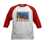 Cardinals on the Fence Kids Baseball Jersey