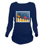 Cardinals on the Fen Long Sleeve Maternity T-Shirt