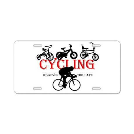 Cycling Cyclists Aluminum License Plate