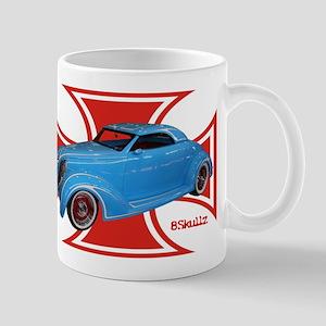 Blue Custom Red Mug