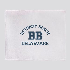 Bethany Beach - Varsity Design Throw Blanket