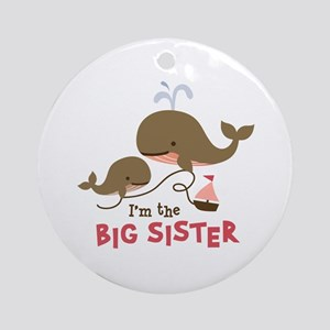 Big Sister - Mod Whale Ornament (Round)