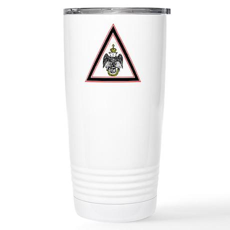 Scottish Rite Emblem Stainless Steel Travel Mug