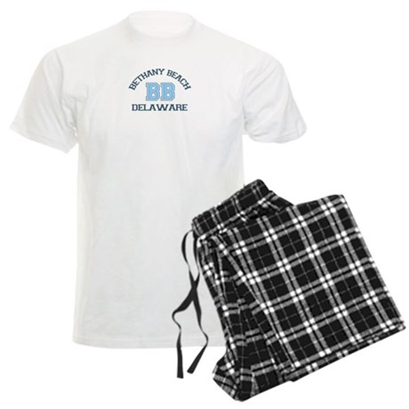 Bethany Beach - Varsity Design Men's Light Pajamas