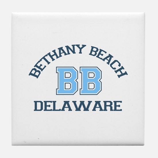 Bethany Beach - Varsity Design Tile Coaster