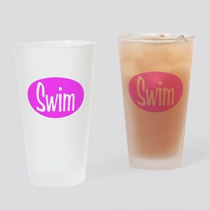 Swim Pink Oval Pint Glass