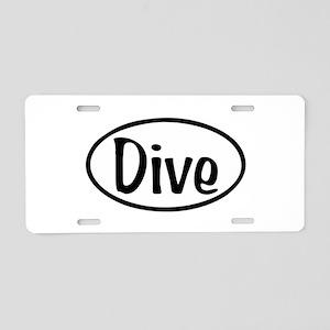 Dive Oval Aluminum License Plate