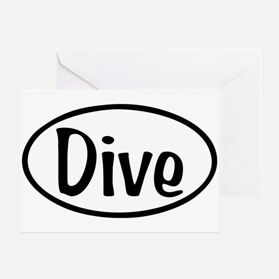 Dive Oval Greeting Card