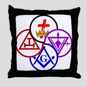 York Rite Pinwheel Throw Pillow