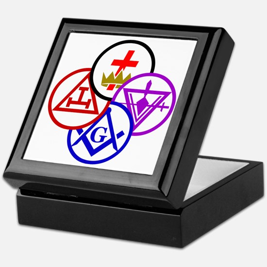 York Rite Pinwheel Keepsake Box