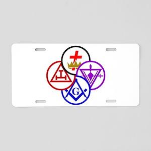 York Rite Pinwheel Aluminum License Plate