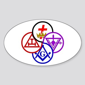 York Rite Pinwheel Sticker (Oval)