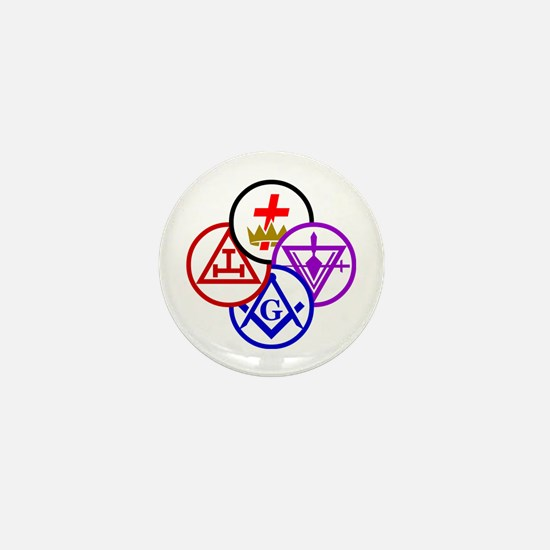 York Rite Pinwheel Mini Button