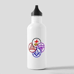 York Rite Pinwheel Stainless Water Bottle 1.0L
