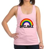 Not gay but supportive Womens Racerback Tanktop