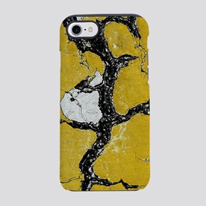 Cracked Road Yellow Pain iPhone 7 Tough Case