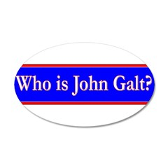 John Galt 38.5 x 24.5 Oval Wall Peel