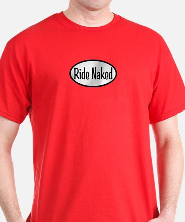 Ride Naked Oval T-Shirt