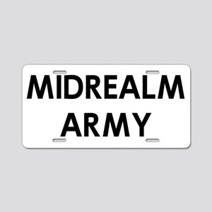 MIDREALM ARMY PT Aluminum License Plate