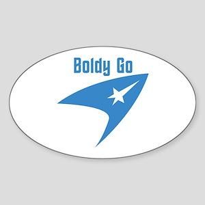 Boldly Go Sticker (Oval 10 pk)
