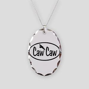 Caw Caw Oval Necklace Oval Charm