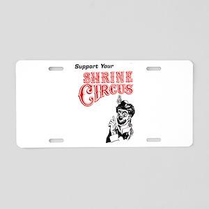 Shrine Circus Clown Aluminum License Plate