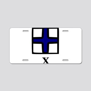 Nautical Letter X Aluminum License Plate
