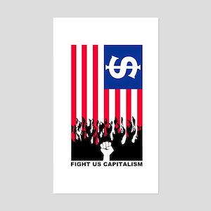FIGHT US CAPITALISM Rectangle Sticker