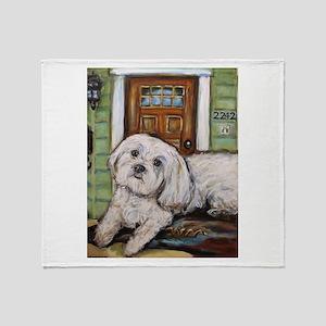 Portrait of Juno Throw Blanket