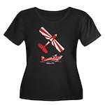Citabria Pro Women's +Size Scoop Neck Dark T