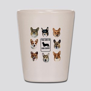 You Are in Corgi Country Shot Glass
