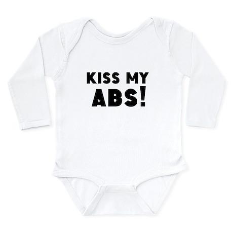 Kiss My Abs Long Sleeve Infant Bodysuit