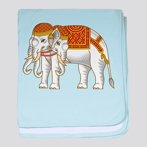 Thai Erawan White Elephant baby blanket
