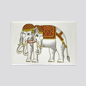 Thai Erawan White Elephant Rectangle Magnet