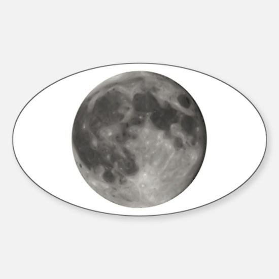 Luna - Full Moon - Sticker (Oval)