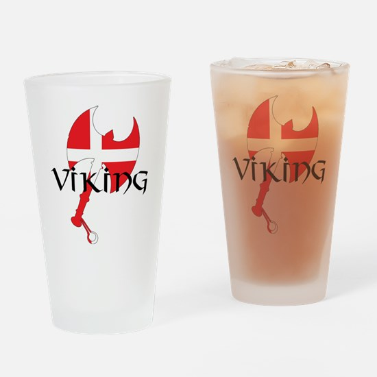 Denmark Viking Axe Drinking Glass