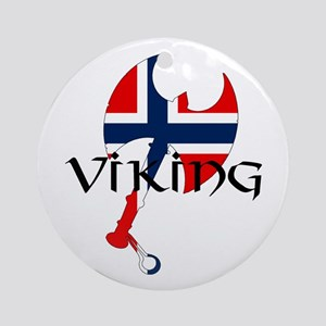 Norway Viking Ornament (Round)