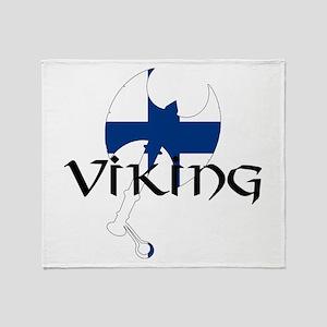 Finnish Viking Axe Throw Blanket